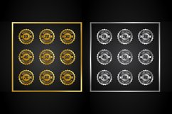 Gold and Silver Discount Sale Badge Product Image 1