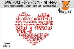 School Valentine Word Art Heart SVG Product Image 2