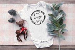 Cute Farmhouse Christmas Baby Onesie Mockup Product Image 1