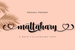 Mattahary | A Bold Calligraphy Font Product Image 1