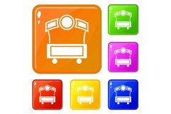 Festival stall icons set vector color Product Image 1