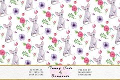Funny Cats Seamless Patterns, Seamless backgrounds Product Image 6