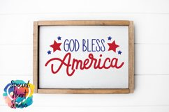 God Bless America - A hand lettered patriotic SVG Product Image 2