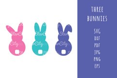 Bunnies SVG Cut Files, Bunny Cutting file, Easter SVG cut Product Image 1