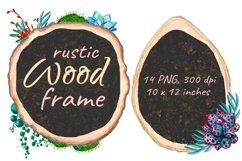 Flower Wood Sign Board Rustic Chalkboard Product Image 3