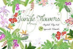 Jungle clipart with flowers Product Image 1