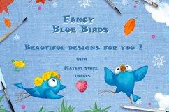 Fancy Blue Birds. Big set. Characters. Product Image 6