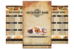 Retro Restaurant Menu Product Image 1