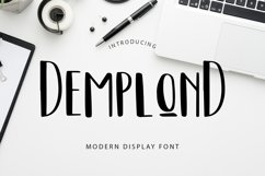 DemplonD Display Font Product Image 1