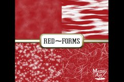 Red Forms - 10 Digital Papers/Backgrounds Product Image 3