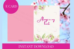 E card Always in my heart Card Instant Download Product Image 5