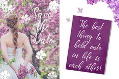 Graceful bouquet-lovely font&clipart Product Image 5
