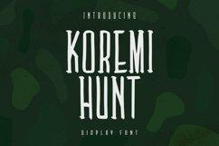 Koremi Hunt Font Product Image 1