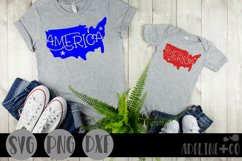 America, USA silhouette, SVG, PNG, DXF Product Image 1