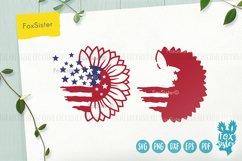 Sunflower svg, Patriotic Sunflower Svg, USA Flag Svg Product Image 4