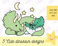 Baby Dinosaur SVG - SVG Files for Cricut, Cute Tshirt Design Product Image 4