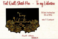 single line foil To my Valentine cutting foil greeting card Product Image 6
