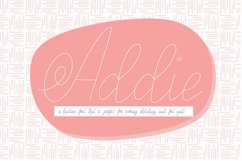 Addie Hairline Font, Scoring, Sketching, Foil Quill Product Image 1