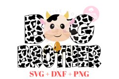 Big Brother Cow svg   Cow   Cow svg   Birthday svg Product Image 1