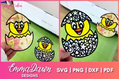 CHUCKY THE CHICK SVG 2 MANDALA ZENTANGLE EASTER DESIGNS Product Image 2