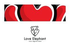 Love Elephant - Creative Heart Shape Animal Stock Logo Product Image 3