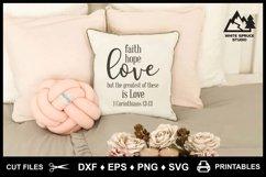 Faith Hope Love SVG & Printable, Bible, 1 Corinthians 13-13 Product Image 1