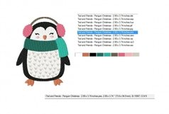 Christmas Fun Penguin Machine Embroidery Design in 2 sizes Product Image 2