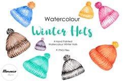 Watercolour Winter Hats Clip Art PNG Sublimation Product Image 1