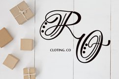 Hand Lettered Effect Monogram Product Image 5