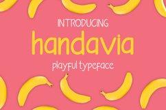Handavia - handwritten childish font Product Image 1