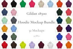 Hoodie Mockup Bundle Gildan 18500 Basic hoodie mockups Product Image 1