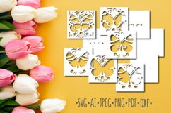Papercut 3D Butterfly Flowers Layered Design Product Image 2