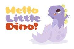 Cute Dino Dinosaur Font Product Image 3