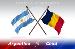 Argentina vs Chad Two Flags Product Image 1