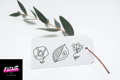 Dooflo - an amazing doodle floral font Product Image 2