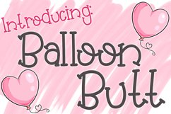 Balloon Butt Font Product Image 1