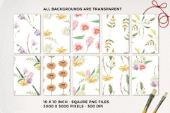 Spring Foliage Florals Pretty Watercolor Seamless Patterns Product Image 2