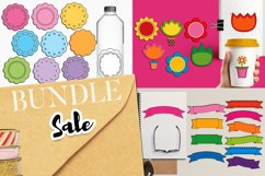 Spring graphic bundle - ribbons, tags, flowers Product Image 1