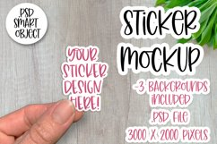 Sticker Mockup, Smart Object PSD, Vinyl Decal Mockup Product Image 1