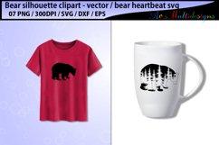 bear svg silhouette vector / mama bear svg / bear heartbeat Product Image 4