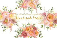 Watercolor Clipart Bundle Blush Pink and Peach Peony Product Image 3