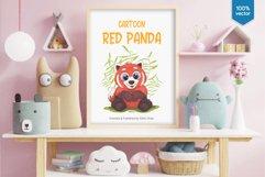 Big cartoon red panda. Product Image 4