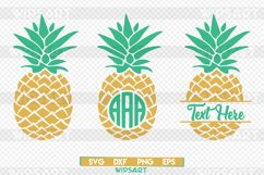 Pineapple svg, pineapple monogram svg, ananas monogram svg Product Image 1