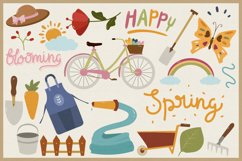 Spring Season Vector Clipart & Seamless Patterns Product Image 3