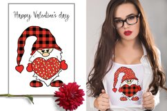 Vector doodle leopard and buffalo valentine Gnomes bundle Product Image 2