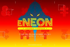 eNeon Layered Font Product Image 1