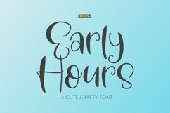 Early Hours | A Fun Crafty Font Product Image 1