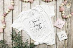 4 Image Valentines Day White T-Shirt Mockup Farmhouse Bundle Product Image 4