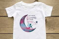 Crescent Moon and Fairy Let your Dreams be your Wings svg Product Image 1