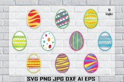 Easter Egg , Easter SVG, Easter Colorful Prints, Printable Product Image 1